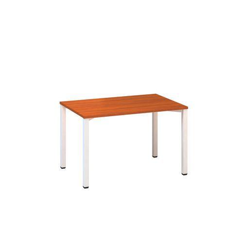 Kancelářský stůl Alfa 200, 120 x 80 x 74,2 cm, rovné provedení, dezén třešeň, RAL9010