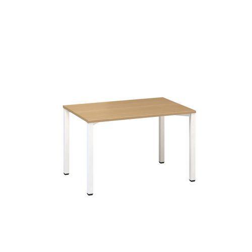 Kancelářský stůl Alfa 200, 120 x 80 x 74,2 cm, rovné provedení, dezén buk, RAL9010