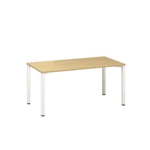 Alfa Office Kancelářský stůl Alfa 200, 160 x 80 x 74,2 cm, rovné provedení, dezén divoká hruška, RAL9010 - Prodloužená záruka na 10 let