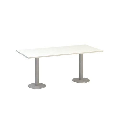 Alfa Office Konferenční stůl Alfa 400, 180 x 80 x 74,2 cm, rovné provedení, dezén bílá, RAL9022 - Prodloužená záruka na 10 let