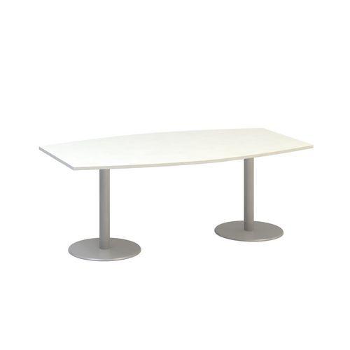 Konferenční stůl Alfa 400, 200 x 110 x 74,2 cm, deska barel, dezén bílá, RAL9022