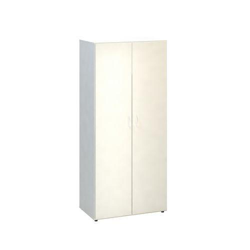 Vysoká šatní skříň Alfa 500, 178 x 80 x 47 cm, dezén bílá