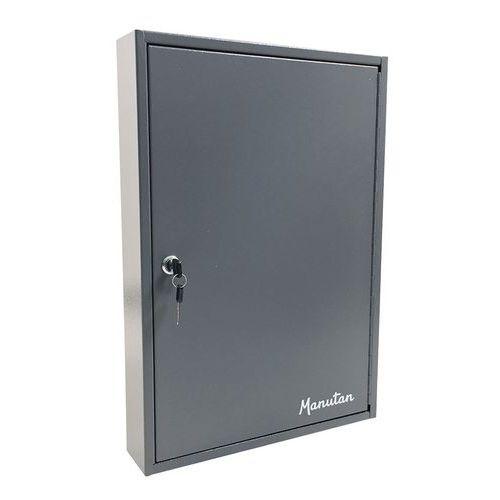 Skříňka na klíče Manutan, 100 háčků, světle šedá