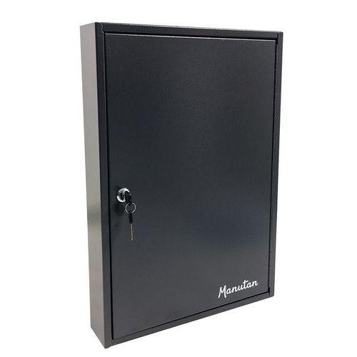 Skříňka na klíče Manutan, 100 háčků, tmavě šedá