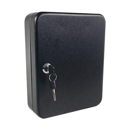 Skříňka na klíče Manutan, 20 háčků, černá