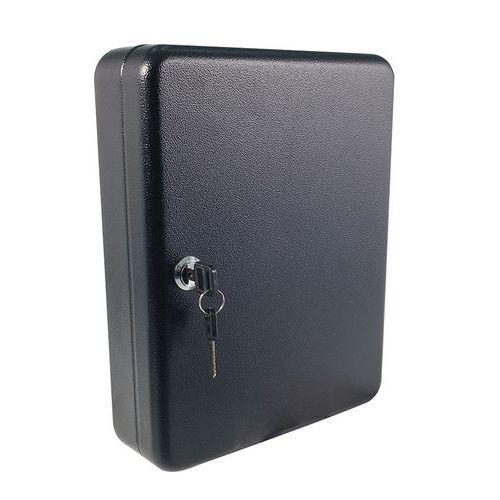 Skříňka na klíče Manutan, 50 háčků, černá