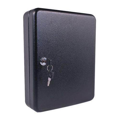 Skříňka na klíče Manutan, 70 háčků, černá