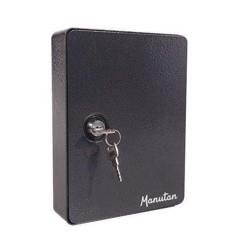 Skříňka na klíče Manutan, 15 háčků, tmavě šedá