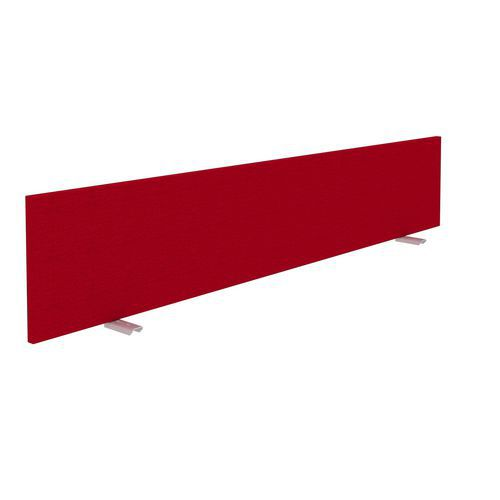 Alfa Office Stolový paraván Alfa 630, 160 x 30 cm, červená - Prodloužená záruka na 10 let