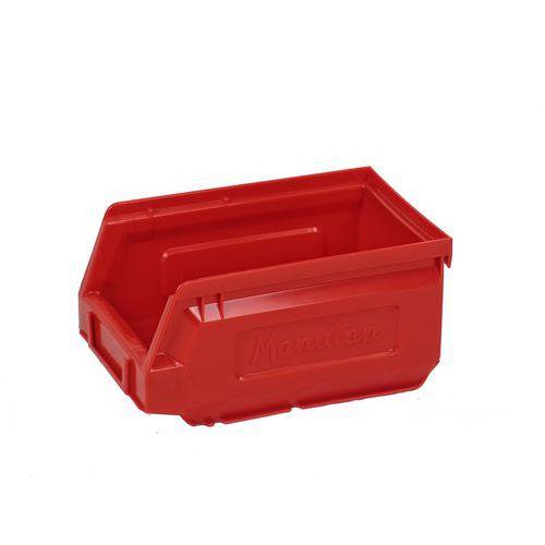 Plastový box 8,3 x 10,3 x 16,5 cm, červený