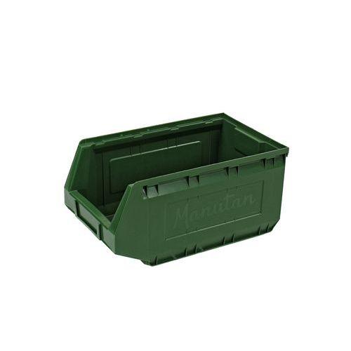 Plastový box Manutan 16,5 x 20,7 x 34,5 cm, zelený