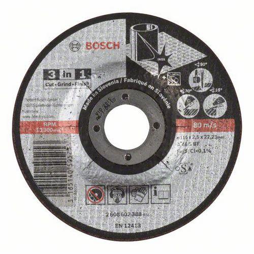 Bosch - Řezný kotouč 3 v 1 A 46 S BF, 115 mm, 2,5 mm, 25 BAL