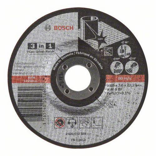 Bosch - Řezný kotouč 3 v 1 A 46 S BF, 125 mm, 2,5 mm, 25 BAL