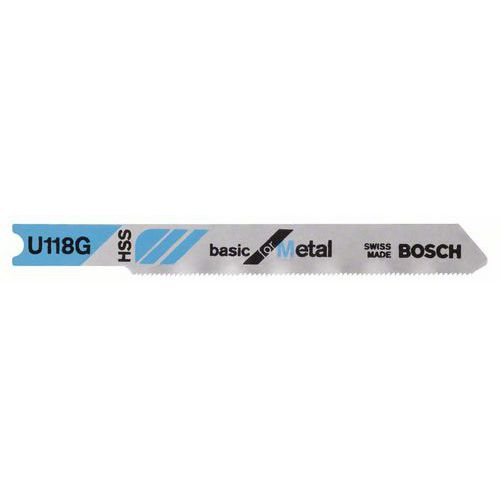 Bosch - Pilový plátek do kmitací pily U 118 G Basic for Metal, 3ks x 10 BAL