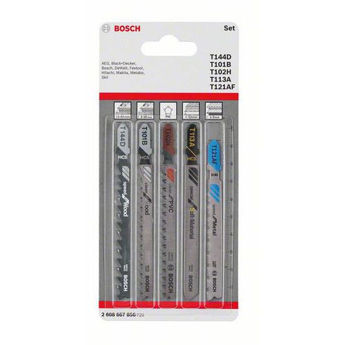 Bosch - 5dílná sada pilových plátků do kmitací pily Allrounder, 5 BAL