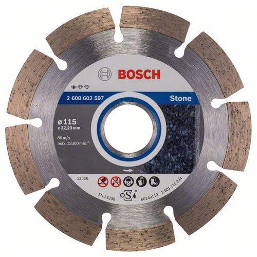 Bosch - Diamantový řezný kotouč Standard for Stone 115 x 22,23 x 1,6 x 10 mm