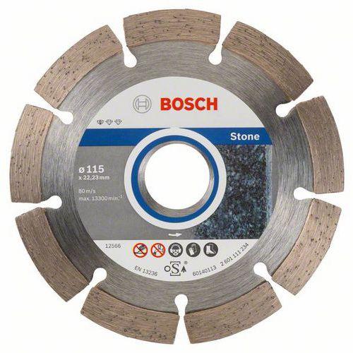 Bosch - Diamantový řezný kotouč Standard for Stone 115 x 22,23 x 1,6 x 10 mm, 10ks
