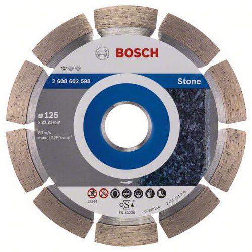 Bosch - Diamantový řezný kotouč Standard for Stone 125 x 22,23 x 1,6 x 10 mm