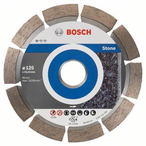 Bosch - Diamantový řezný kotouč Standard for Stone 125 x 22,23 x 1,6 x 10 mm, 10ks