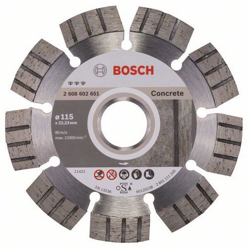 Bosch - Diamantový řezný kotouč Best for Concrete 115 x 22,23 x 2,2 x 12 mm