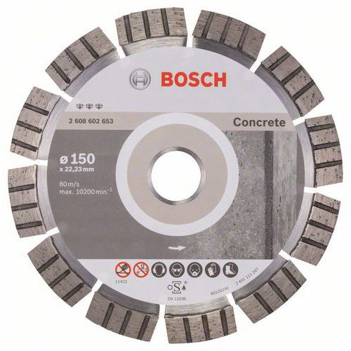 Bosch - Diamantový řezný kotouč Best for Concrete 150 x 22,23 x 2,4 x 12 mm