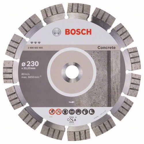 Bosch - Diamantový řezný kotouč Best for Concrete 230 x 22,23 x 2,4 x 15 mm
