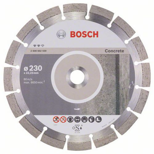 Bosch - Diamantový řezný kotouč Expert for Concrete 230 x 22,23