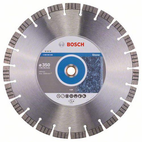 Bosch - Diamantový řezný kotouč Best for Stone 350 x 20,00 plus 25,40