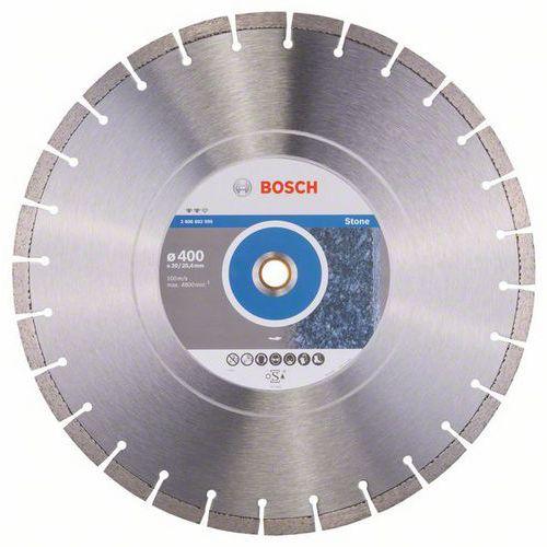 Bosch - Diamantový řezný kotouč Expert for Stone 400 x 20,00+25,40 x 3,2 x 12 mm
