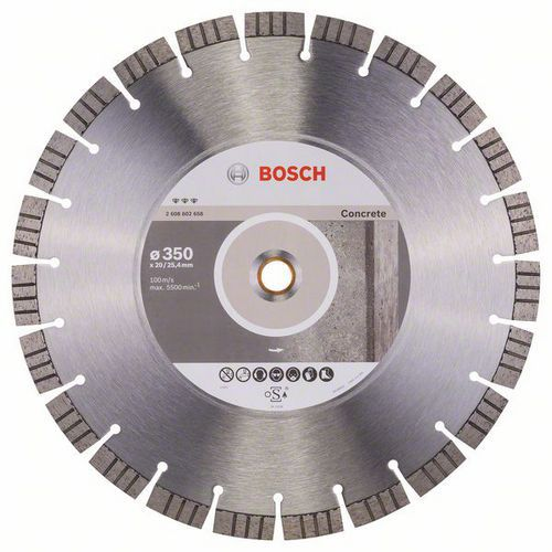 Bosch - Diamantový řezný kotouč Best for Concrete 350 x 20,00 plus 25