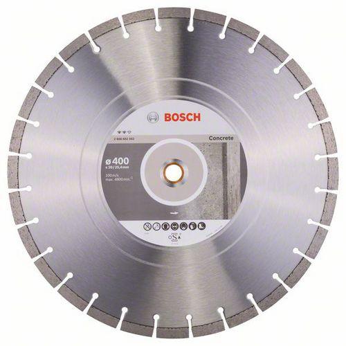 Bosch - Diamantový řezný kotouč Expert for Concrete 400 x 20,00+25,40 x 3,2 x 12 mm
