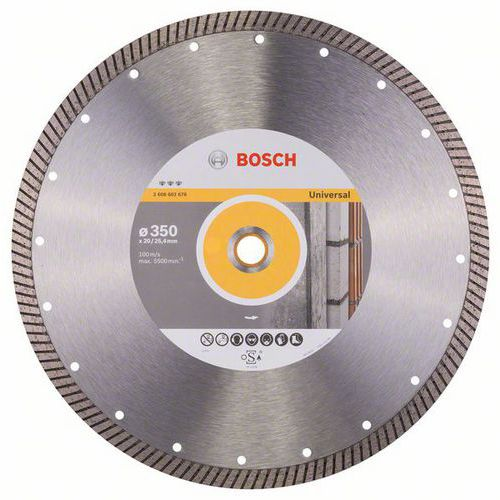 Bosch - Diamantový řezný kotouč Best for Universal Turbo 350 x 2