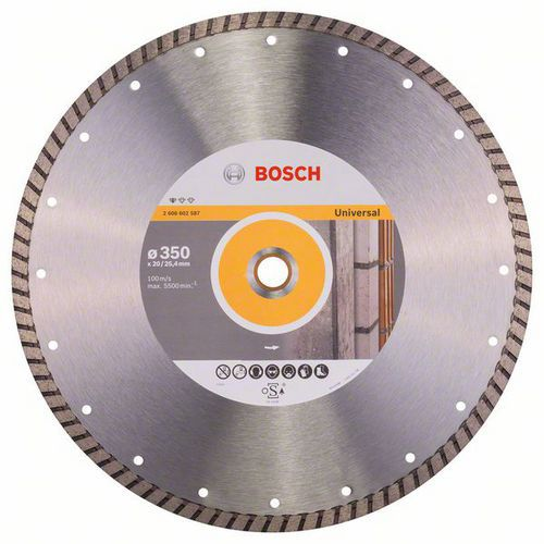 Bosch - Diamantový řezný kotouč Standard for Universal Turbo 350