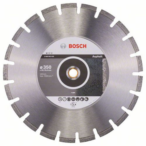 Bosch - Diamantový řezný kotouč Standard for Asphalt 350 x 20/25