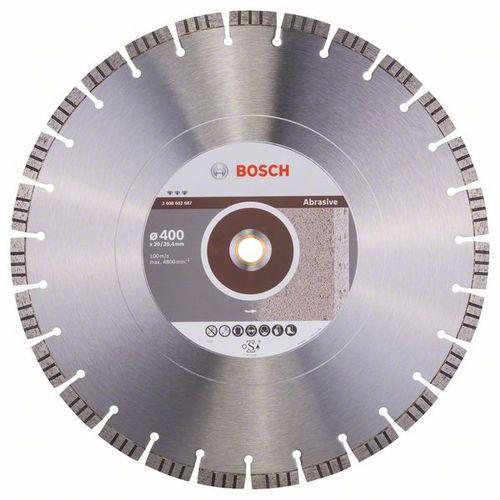 Bosch - Diamantový řezný kotouč Best for Abrasive 400 x 20,00+25,40 x 3,2 x 12 mm