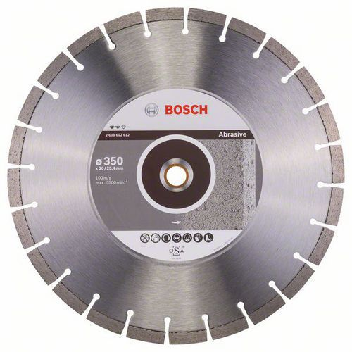 Bosch - Diamantový řezný kotouč Expert for Abrasive 350 x 20,00 plus