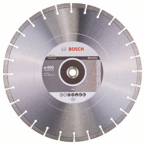 Bosch - Diamantový řezný kotouč Standard for Abrasive 400 x 20/2