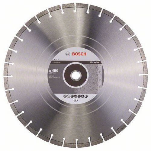 Bosch - Diamantový řezný kotouč Standard for Abrasive 450 x 25,4