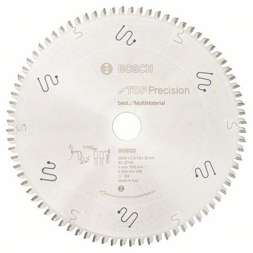 Bosch - Pilový kotouč do okružních pil Top Precision Best for Multi Material 254 x 30 x 2,3 mm, 80