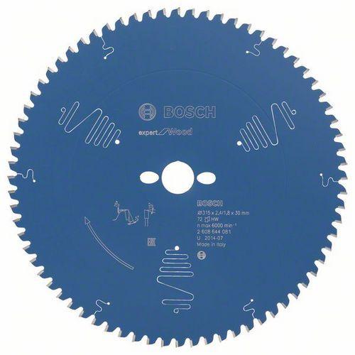 Bosch - Pilový kotouč Expert for Wood 315 x 30 x 2,4 mm, 72
