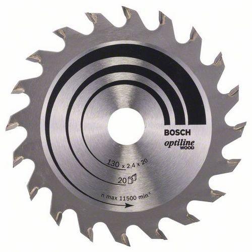 Bosch - Pilový kotouč Optiline Wood 130 x 20/16 x 2,4 mm, 20