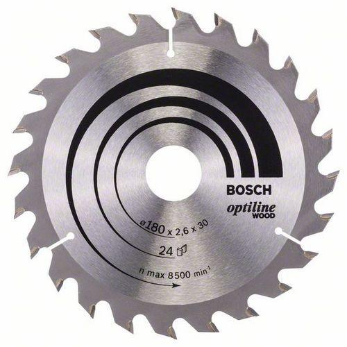 Bosch - Pilový kotouč Optiline Wood 180 x 30/20 x 2,6 mm, 24