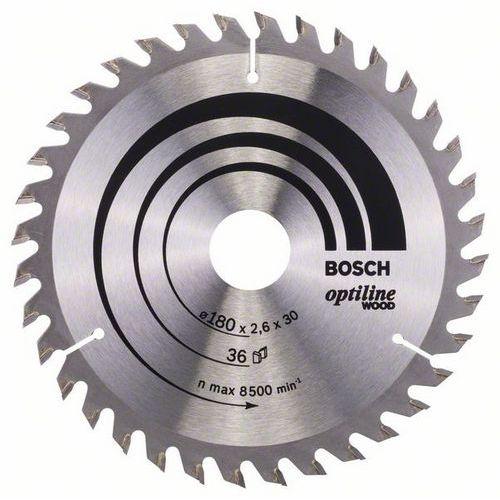 Bosch - Pilový kotouč Optiline Wood 180 x 30/20 x 2,6 mm, 36
