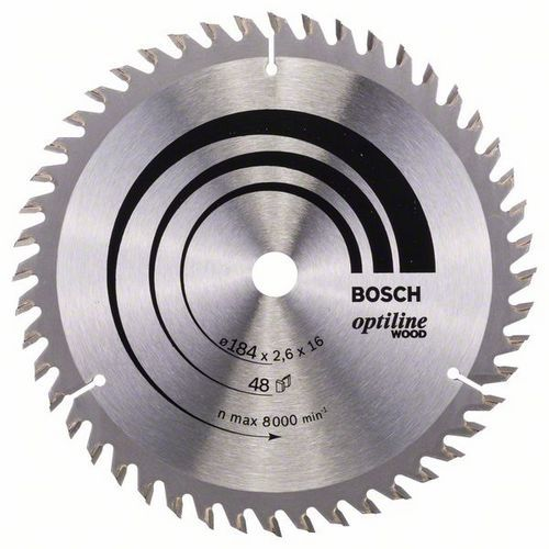 Bosch - Pilový kotouč Optiline Wood 184 x 16 x 2,6 mm, 48