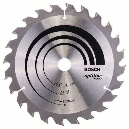 Bosch - Pilový kotouč Optiline Wood 190 x 20/16 x 2,6 mm, 24