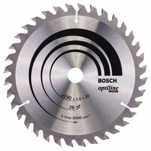 Bosch - Pilový kotouč Optiline Wood 190 x 20/16 x 2,6 mm, 36