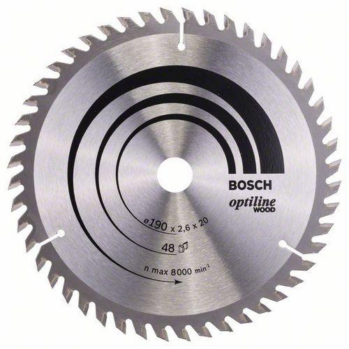 Bosch - Pilový kotouč Optiline Wood 190 x 20/16 x 2,6 mm, 48