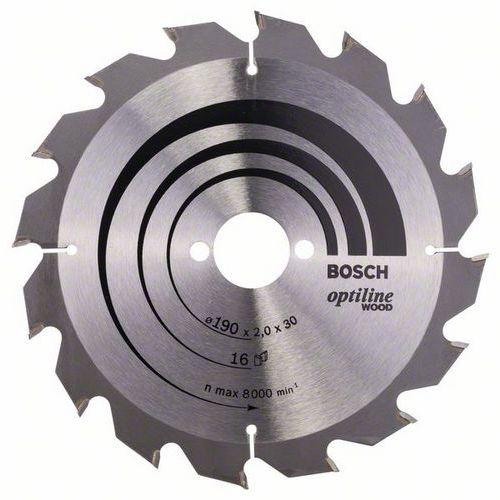 Bosch - Pilový kotouč Optiline Wood 190 x 30 x 2,0 mm, 16
