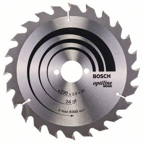 Bosch - Pilový kotouč Optiline Wood 190 x 30 x 2,0 mm, 24