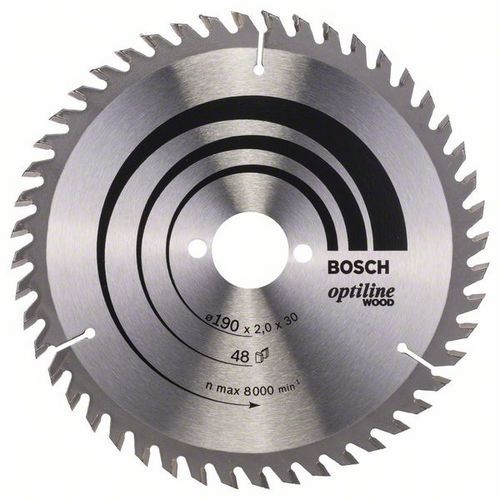 Bosch - Pilový kotouč Optiline Wood 190 x 30 x 2,0 mm, 48